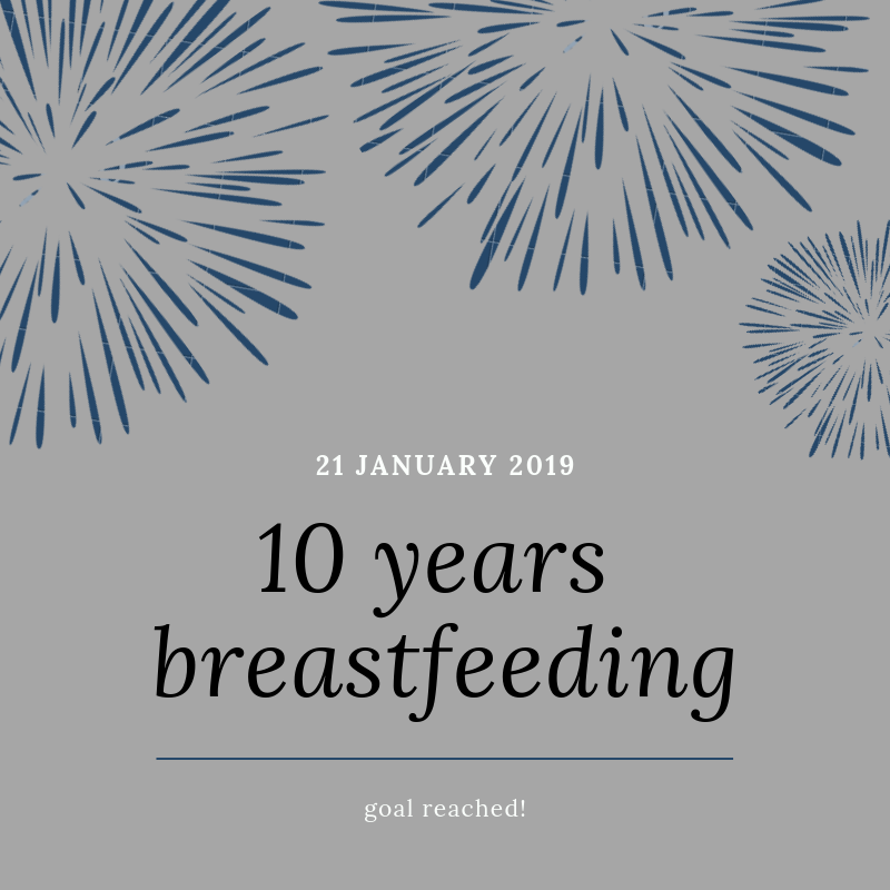 I'm celebrating 10 years of breastfeeding